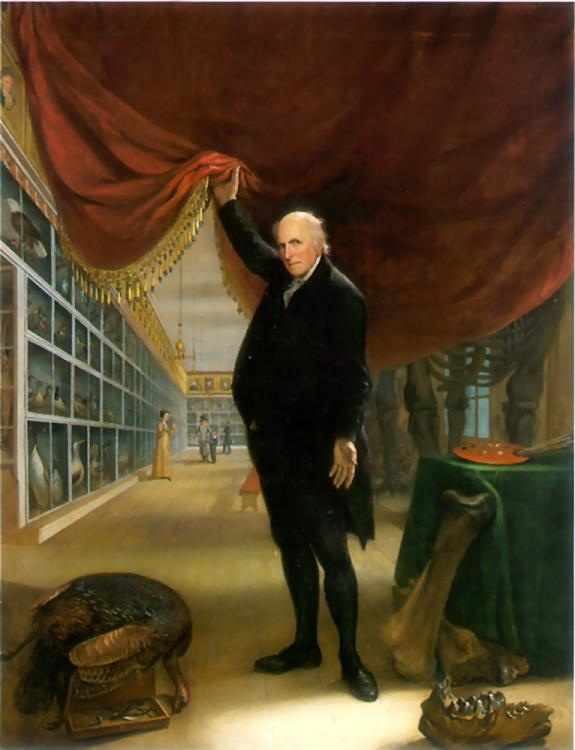 Charles Willson Peale, The Artist in His Museum, 1822. Oil on canvas, 263.5 x 203 cm. Courtesy Pennsylvania Academy of the Fine Arts, Philadelphia.
