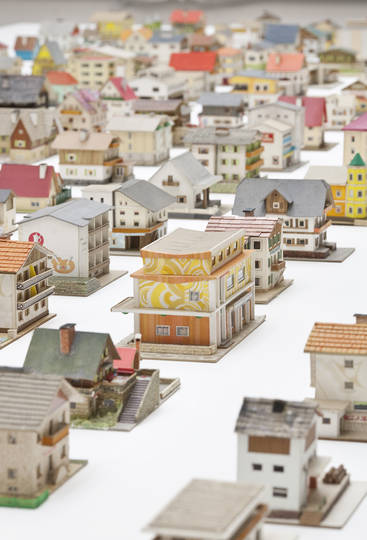 Oliver Croy and Oliver Elser, Special Models-The 387 Houses of Peter Fritz, Insurance Clerk from Vienna. Courtesy the artist and Wien Museum, Vienna. photo Francesco Galli
