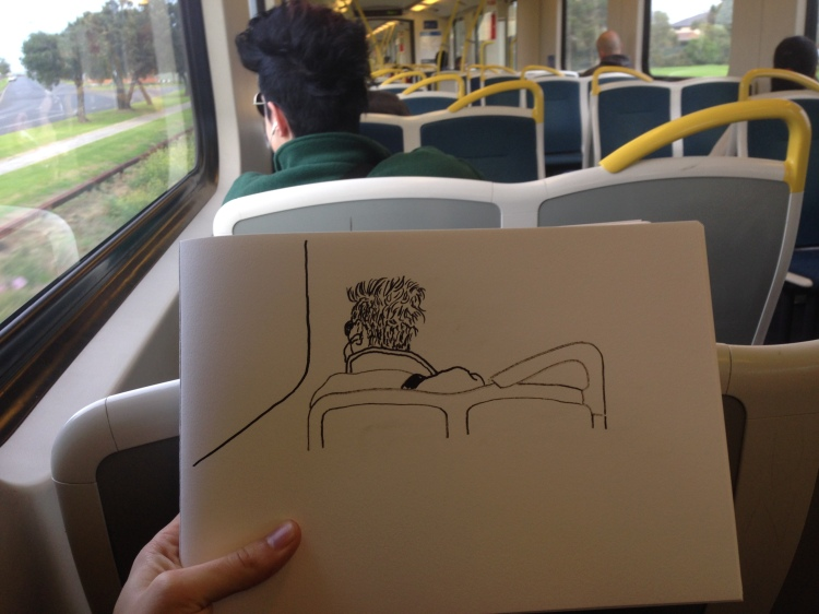Kenny Pittock. Train drawing. A girl named Sue.