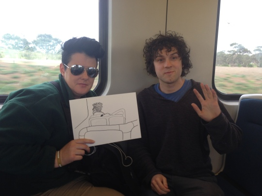 Kenny PIttock. Train Drawing. Looking cool.