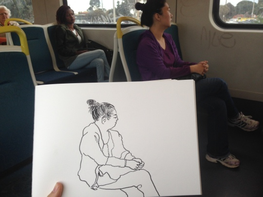 Kenny Pittock. Train drawing. The texta adds ten pounds.